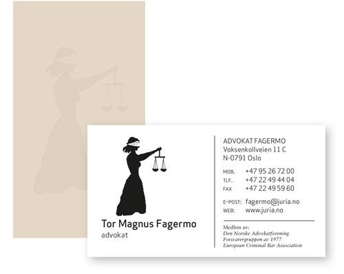 Fagermo-visittkort